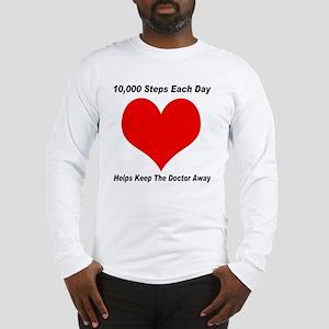 10000 Steps Plain Long Sleeve T-Shirt