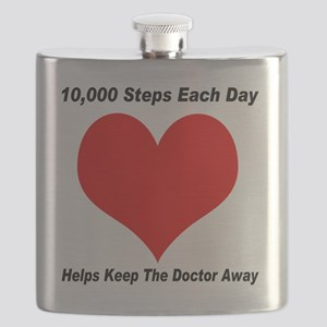 10000 Steps Plain Flask