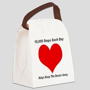10000 Steps Plain Canvas Lunch Bag