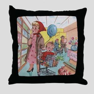 supermarket Throw Pillow