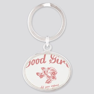 good-girl-DKT Oval Keychain