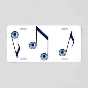 eye tunes for dark Aluminum License Plate