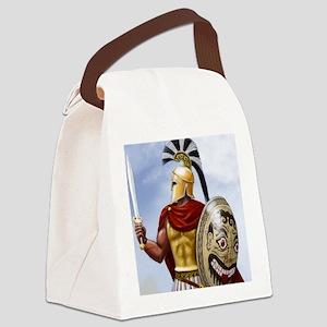 leonidas v1 corintian helmet squa Canvas Lunch Bag