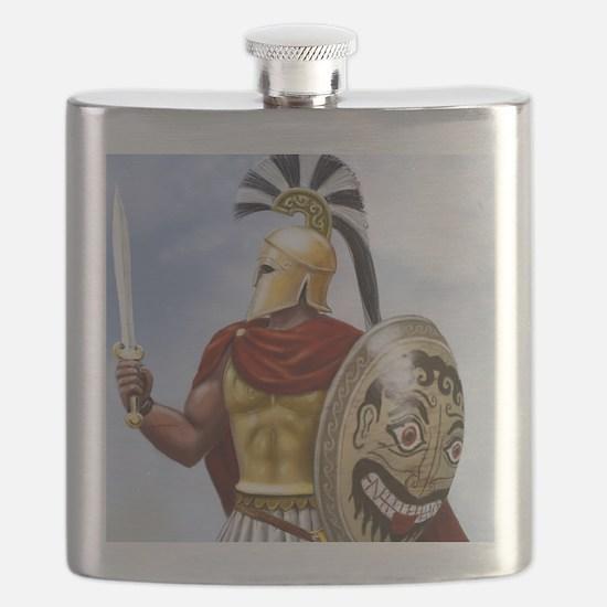 leonidas v1 corintian helmet square Flask