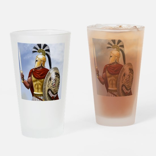 leonidas v1 corintian helmet square Drinking Glass