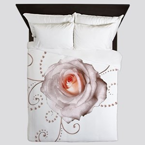 Lechampagnerose copy Queen Duvet