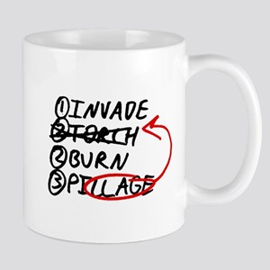 Pillage THEN Burn Mug