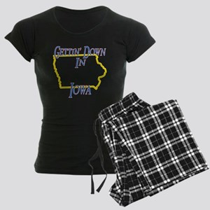 Iowa - Gettin Down Women's Dark Pajamas