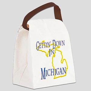 Michigan - Gettin Down Canvas Lunch Bag