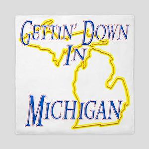 Michigan - Gettin Down Queen Duvet