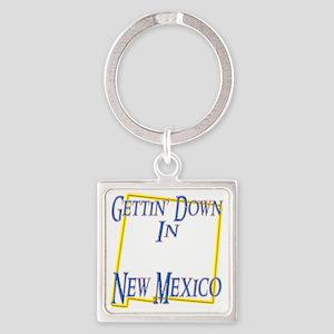 New Mexico - Gettin Down Square Keychain