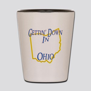 Ohio - Gettin Down Shot Glass