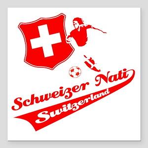 "soccer player designs Square Car Magnet 3"" x 3"""