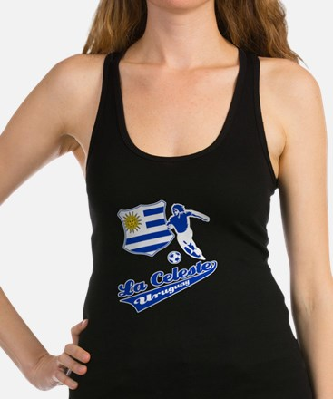 soccer player designs Racerback Tank Top