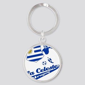 soccer player designs Round Keychain