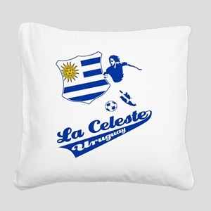 soccer player designs Square Canvas Pillow