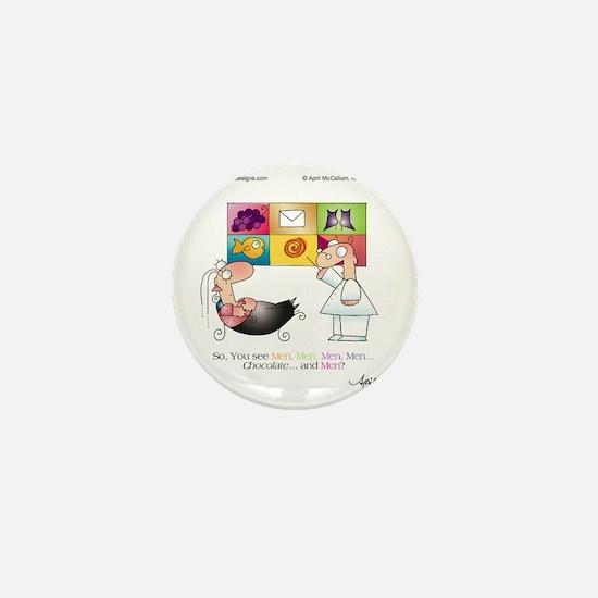 MEN AND CHOCOLATE by April McCallum Mini Button