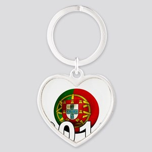 Portugal Football2Bk Heart Keychain