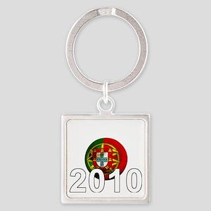 Portugal Football2Bk Square Keychain
