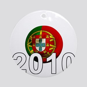 Portugal Football2Bk Round Ornament