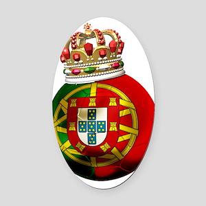 Portugal Football7 Oval Car Magnet
