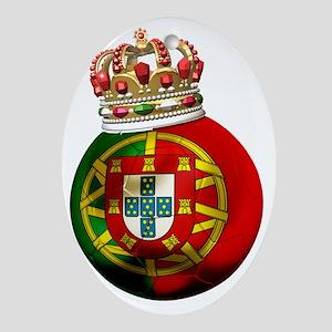 Portugal Football7 Oval Ornament