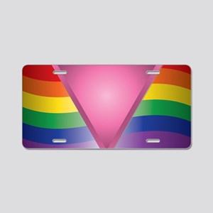 2-Wide Rainbow Triangle Aluminum License Plate