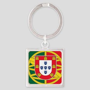 portugal flag 2 Square Keychain