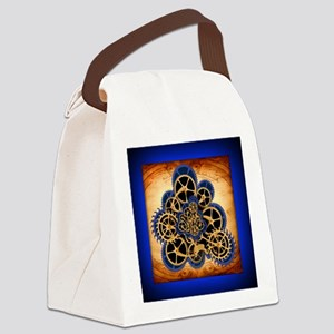 Dreamspell Steampunk notecard Canvas Lunch Bag