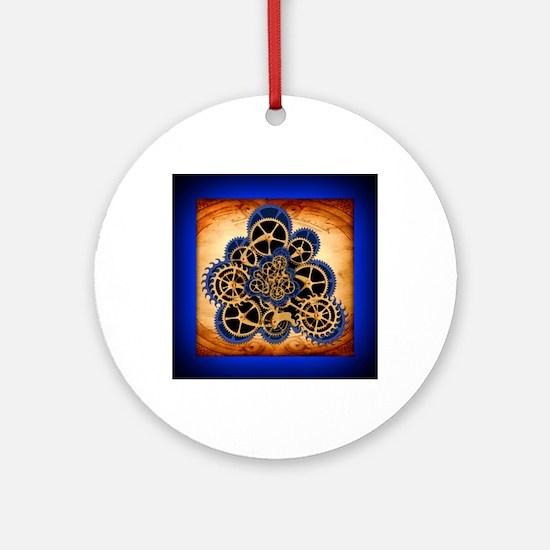 Dreamspell Steampunk notecard Round Ornament
