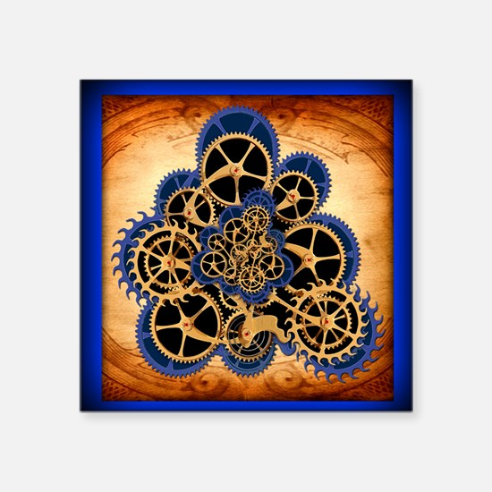 "Dreamspell Steampunk greeti Square Sticker 3"" x 3"""