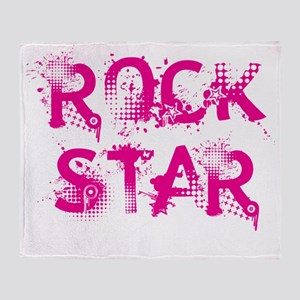 rockstar2 Throw Blanket