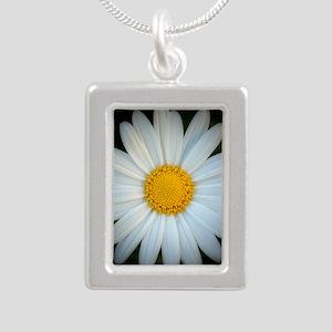 Standout Daisy  Silver Portrait Necklace