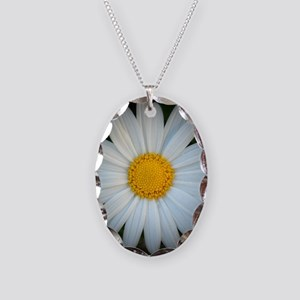 Standout Daisy  Necklace Oval Charm
