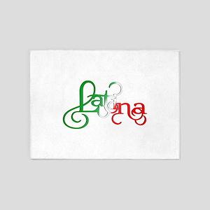 Proud to be a Latina! 5'x7'Area Rug