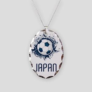 Japan Football3 Necklace Oval Charm