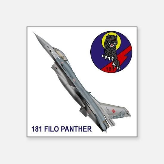 """F-16_FILO_PANTHER_SQUADRON Square Sticker 3"""" x 3"""""""