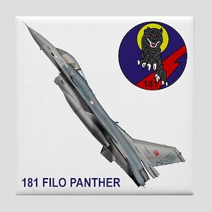 F-16_FILO_PANTHER_SQUADRON Tile Coaster