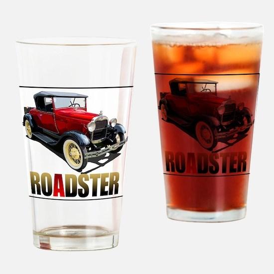 RedAroadster-4 Drinking Glass