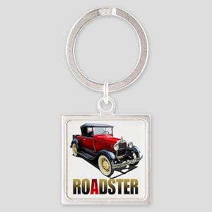 RedAroadster-10 Square Keychain