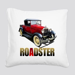RedAroadster-10 Square Canvas Pillow