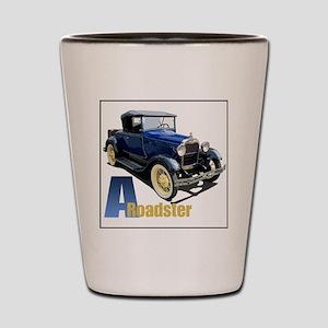 Aroadster-blue-4 Shot Glass
