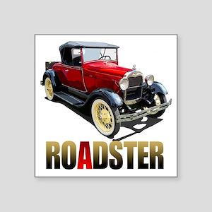 "RedAroadster-10 Square Sticker 3"" x 3"""
