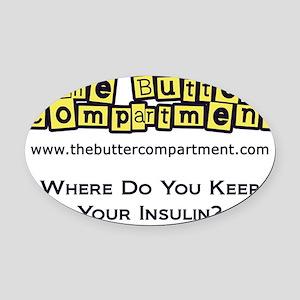 4-wheredoyoukeepyourinsulin6 Oval Car Magnet