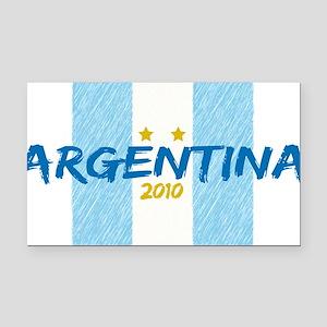 agentina soccer 2010 Rectangle Car Magnet