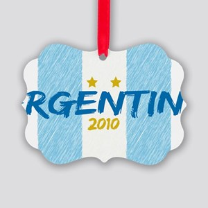 agentina soccer 2010 Picture Ornament