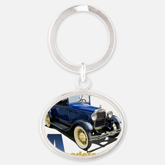 Aroadster-blue-10 Oval Keychain