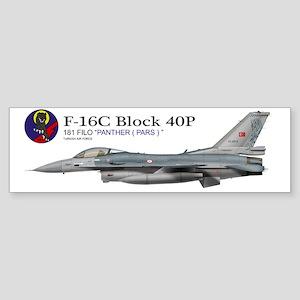 f16_TAF_181_filo Sticker (Bumper)