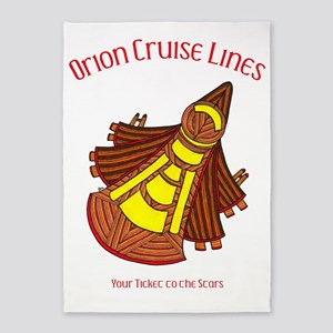 Orion Cruise Line with text 5'x7'Area Rug
