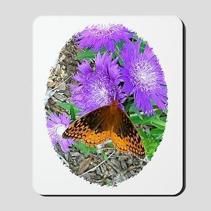 Purple Pixie Flowers, Butterfly Mugs   W Mousepad